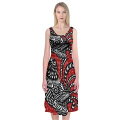 Year of the Rooster Midi Sleeveless Dress