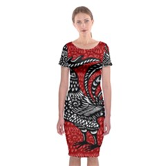 Year of the Rooster Classic Short Sleeve Midi Dress