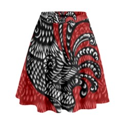 Year of the Rooster High Waist Skirt