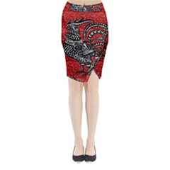 Year of the Rooster Midi Wrap Pencil Skirt