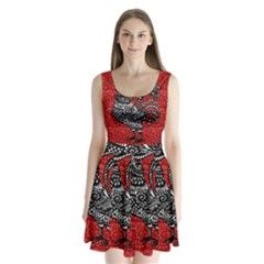 Year of the Rooster Split Back Mini Dress