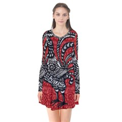 Year of the Rooster Flare Dress