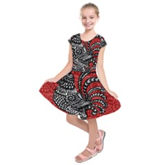 Year of the Rooster Kids  Short Sleeve Dress