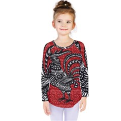 Year of the Rooster Kids  Long Sleeve Tee
