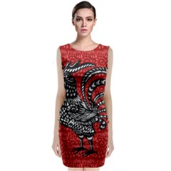 Year of the Rooster Sleeveless Velvet Midi Dress