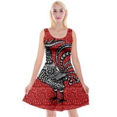 Year of the Rooster Reversible Velvet Sleeveless Dress