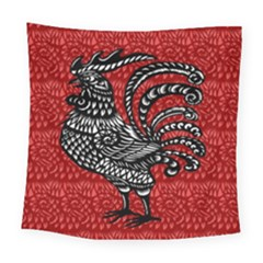 Year of the Rooster Square Tapestry (Large)