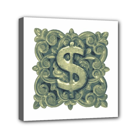 Money Symbol Ornament Mini Canvas 6  x 6