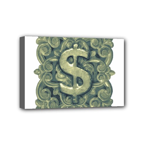 Money Symbol Ornament Mini Canvas 6  x 4