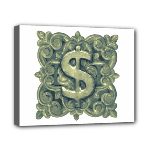 Money Symbol Ornament Canvas 10  x 8