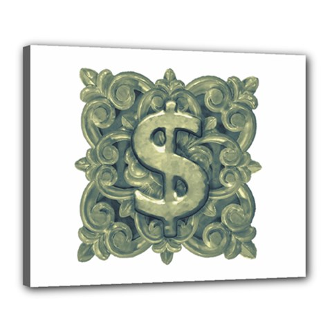 Money Symbol Ornament Canvas 20  x 16