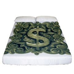 Money Symbol Ornament Fitted Sheet (California King Size)