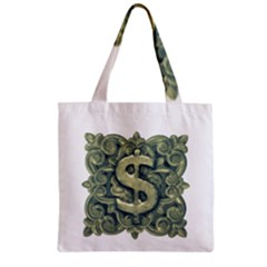 Money Symbol Ornament Zipper Grocery Tote Bag