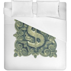Money Symbol Ornament Duvet Cover (King Size)