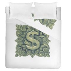 Money Symbol Ornament Duvet Cover Double Side (Queen Size)