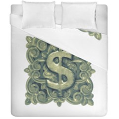 Money Symbol Ornament Duvet Cover Double Side (California King Size)