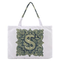 Money Symbol Ornament Medium Zipper Tote Bag