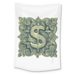 Money Symbol Ornament Large Tapestry