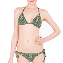 Money Symbol Ornament Bikini Set