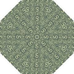 Money Symbol Ornament Hook Handle Umbrellas (Small)