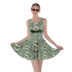 Money Symbol Ornament Skater Dress