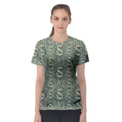 Money Symbol Ornament Women s Sport Mesh Tee