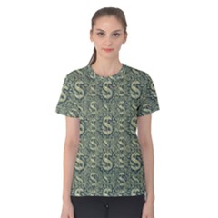 Money Symbol Ornament Women s Cotton Tee