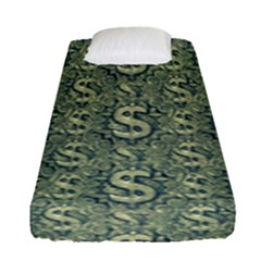 Money Symbol Ornament Fitted Sheet (single Size)