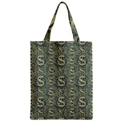 Money Symbol Ornament Zipper Classic Tote Bag