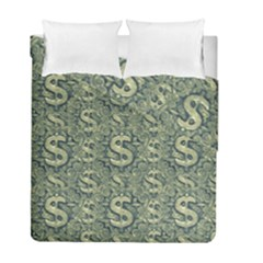 Money Symbol Ornament Duvet Cover Double Side (Full/ Double Size)