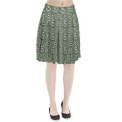 Money Symbol Ornament Pleated Skirt