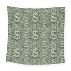 Money Symbol Ornament Square Tapestry (large)