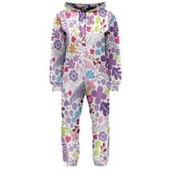 Colorful flower Hooded Jumpsuit (Ladies)