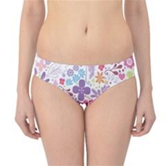 Colorful flower Hipster Bikini Bottoms