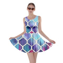 Purple moroccan mosaic Skater Dress