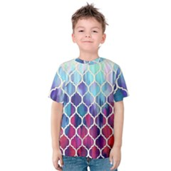 Purple moroccan mosaic Kids  Cotton Tee