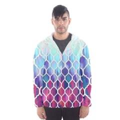 Purple moroccan mosaic Hooded Wind Breaker (Men)