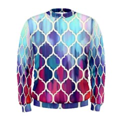 Purple moroccan mosaic Men s Sweatshirt