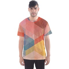 Colorful warm colored quares Men s Sport Mesh Tee