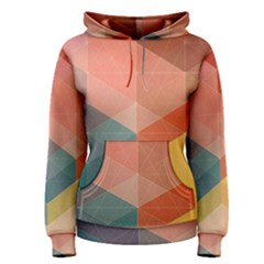 Colorful warm colored quares Women s Pullover Hoodie