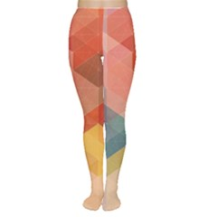 Colorful warm colored quares Women s Tights