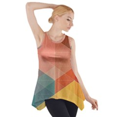 Colorful warm colored quares Side Drop Tank Tunic