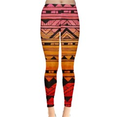 warm tribal Classic Winter Leggings