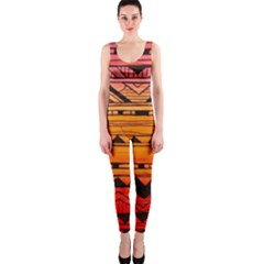 warm tribal OnePiece Catsuit