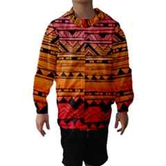 warm tribal Hooded Wind Breaker (Kids)