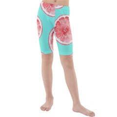 Cute pink lemon Kids  Mid Length Swim Shorts