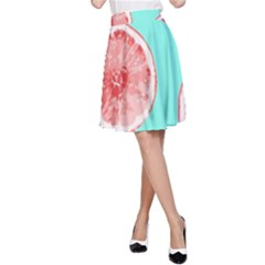 Cute pink lemon A-Line Skirt