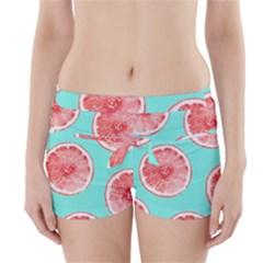 Cute pink lemon Boyleg Bikini Wrap Bottoms