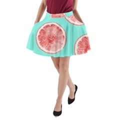 Cute pink lemon A-Line Pocket Skirt
