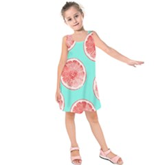 Cute pink lemon Kids  Sleeveless Dress